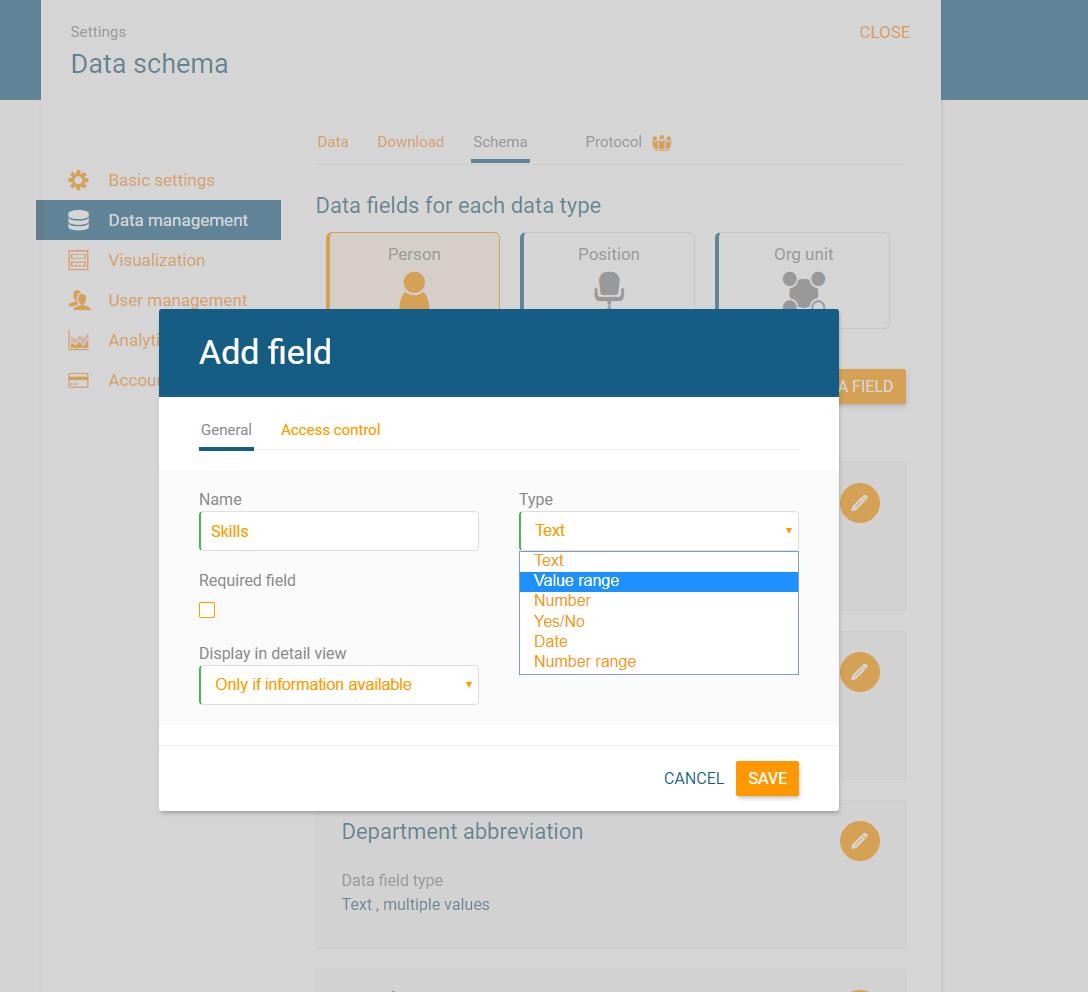Ein neues Datenfeld definieren