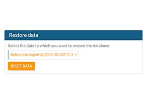 Datenwiederherstellung in orginio